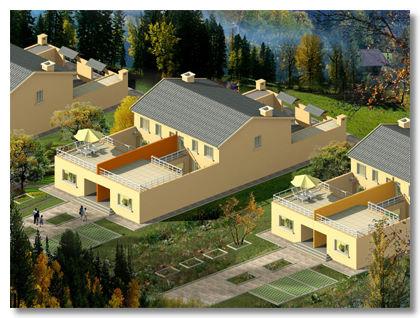 全套城镇带院子农村二层楼房设计图带暖通+水电+结构